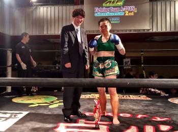 名古屋JKフィットネス キックボクシングジム-水野志保、判定勝利!!