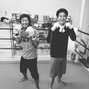 名古屋JKF キックボクシングフィットネスジム-松川さま(左) 武田さま(右) 飲み会が楽しい