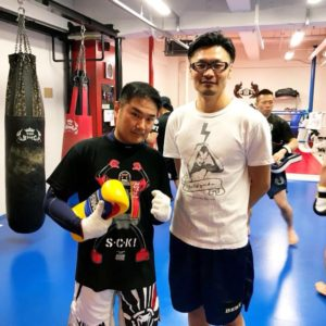 名古屋JKF キックボクシングフィットネスジム-矢崎さま 極真空手の師匠からのススメで